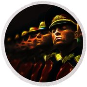 Russian Honor Guard - Featured In Men At Work Group Round Beach Towel
