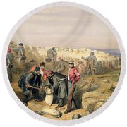 Russian Rifle Pit , Plate From The Seat Round Beach Towel