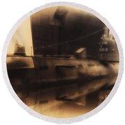 Russian Submarine Heirloom 02 Round Beach Towel