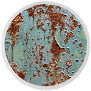 Rust And Paint Round Beach Towel