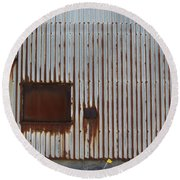 Rust And Window 2 Round Beach Towel