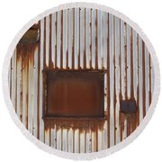 Rust And Window 3 Round Beach Towel