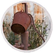 Rusted And Out Of Use Round Beach Towel