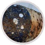Rusted Buoy Round Beach Towel