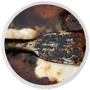 Rusted Camouflage Round Beach Towel