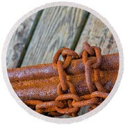 Rusted Chained Round Beach Towel