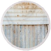 Rusted Metal Background Round Beach Towel