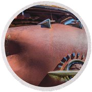 Rusted Oldsmobile Round Beach Towel