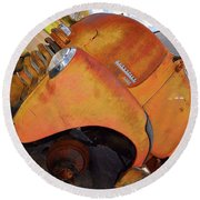 Rusted Out Chevrolet 5700 Round Beach Towel by Liane Wright