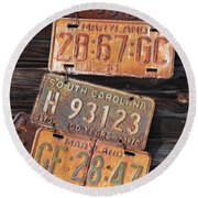 Rusted States Round Beach Towel