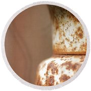 Rusted Urn Round Beach Towel