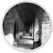 Rustic Castle Inn Hall 2 Round Beach Towel