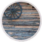 Rustic Ornamentation - Yates Mill Pond Round Beach Towel