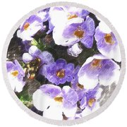 Rustic Planter Box Round Beach Towel by Beverly Guilliams