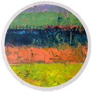 Rustic Roadside Series - Pond Round Beach Towel