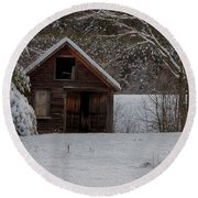 Rustic Shack After The Storm Round Beach Towel