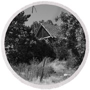 Rustic Shed 7 Round Beach Towel