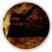 Rustic Steer Round Beach Towel