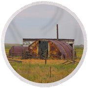 Rusty And Dusty Round Beach Towel