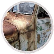 Rusty Classic Willy's Jeep Pickup Round Beach Towel