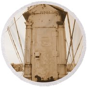 Rusty Door Round Beach Towel