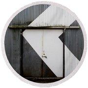 Rusty Door- Photography Round Beach Towel