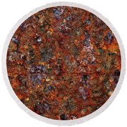 Rusty Round Beach Towel