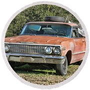 Rusty Impala Round Beach Towel