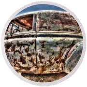 Rusty Old American Dreams - 4 Round Beach Towel