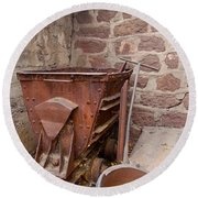 Rusty Ruins In Jerome Arizona Round Beach Towel