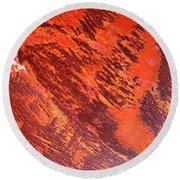 Rusty Textures Round Beach Towel