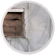 Rusty Vent Face Round Beach Towel
