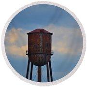 Rusty Watertower Round Beach Towel