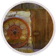 Rusty Wheel Round Beach Towel