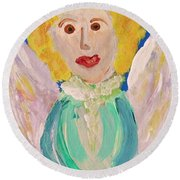 Ruth E. Angel Round Beach Towel