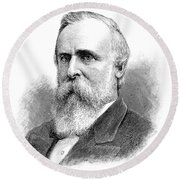 Rutherford B Round Beach Towel