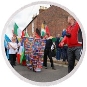 Rye Olympic Torch Relay Parade Round Beach Towel