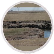 S Curve Creek Round Beach Towel