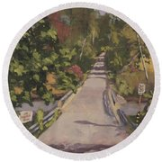 S. Dyer Neck Rd. - Art By Bill Tomsa Round Beach Towel