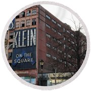 S Klien On The Square Round Beach Towel