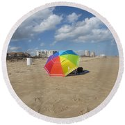 Sa Place Au Soleil / One's Place In The Sun Round Beach Towel