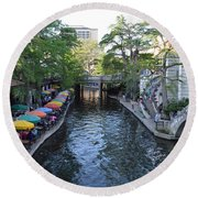 Sa River Walk 2  Round Beach Towel