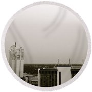 Sa Skyline 001 Round Beach Towel