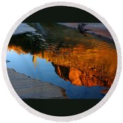 Sabino Canyon Reflection Round Beach Towel