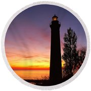 Sable Point Sunset Round Beach Towel