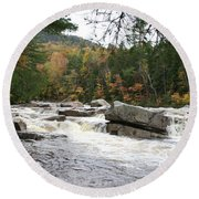 Saco River Rapids North Conway I Round Beach Towel