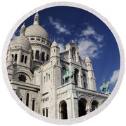 Sacre Coeur Paris Round Beach Towel