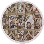 Sacred Ceiling Round Beach Towel