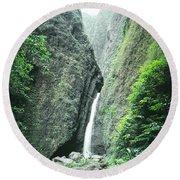 100450-sacred Falls  Round Beach Towel