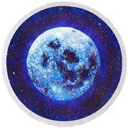 Sacred Feminine Blue Moon Round Beach Towel